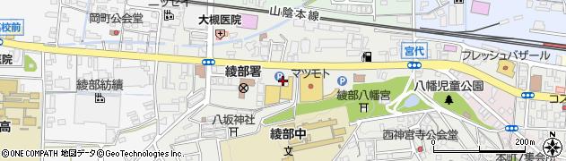 京都府綾部市宮代町(宮ノ下)周辺の地図