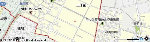 愛知県江南市曽本町(二子前)周辺の地図