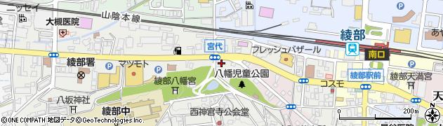京都府綾部市宮代町(宮代)周辺の地図