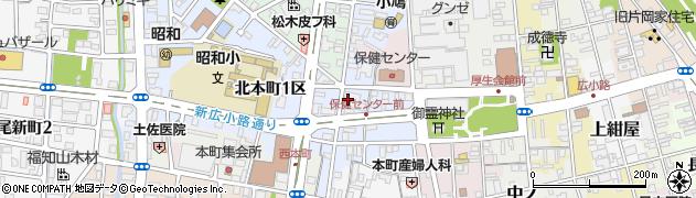 京都府福知山市北本町周辺の地図