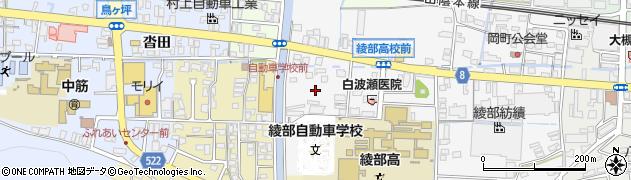 京都府綾部市岡町(鳥居)周辺の地図