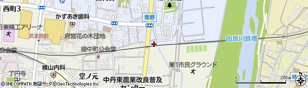 京都府綾部市川糸町(天王森)周辺の地図