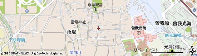 神奈川県小田原市永塚周辺の地図