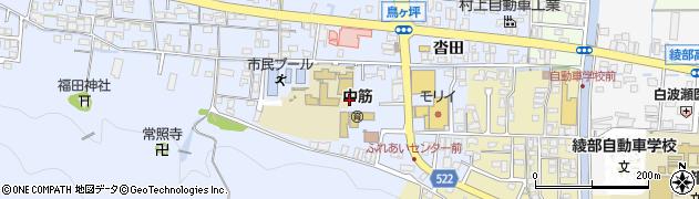 京都府綾部市大島町(外山田)周辺の地図