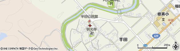 京都府福知山市半田周辺の地図