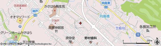 岐阜県多治見市笠原町(神戸区)周辺の地図