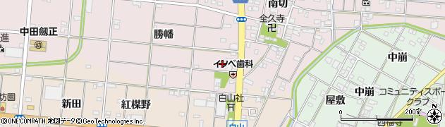 愛知県一宮市北小渕(勝幡)周辺の地図