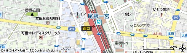 名鉄百貨店 一宮店3階婦人服・ミセスリリアンビューティ・ピサーノ周辺の地図
