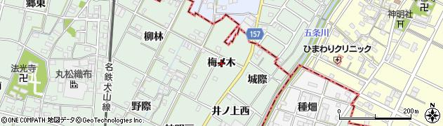 愛知県一宮市千秋町加納馬場(梅ノ木)周辺の地図