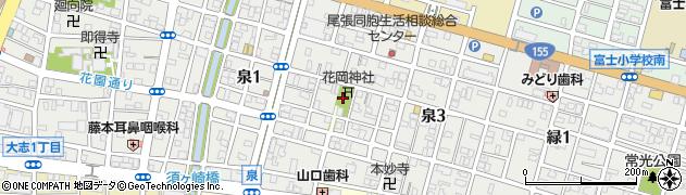 愛知県一宮市泉周辺の地図