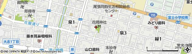 エクボ周辺の地図