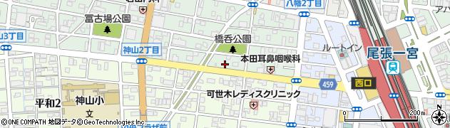 名鉄一宮停車場線周辺の地図
