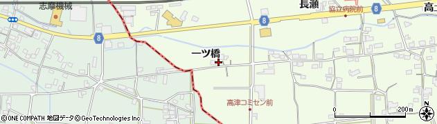 京都府綾部市高津町(一ツ橋)周辺の地図