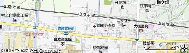京都府綾部市岡町(堂ノ前)周辺の地図