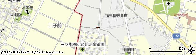 愛知県小牧市三ツ渕原新田周辺の地図