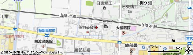 京都府綾部市岡町(舘ノ内)周辺の地図