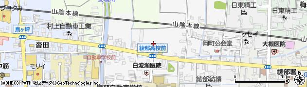 京都府綾部市岡町(西角)周辺の地図