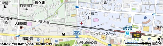 京都府綾部市井倉新町(宮坂)周辺の地図