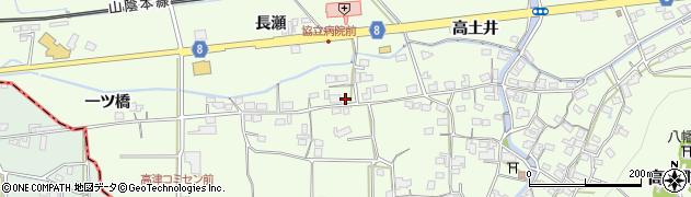 京都府綾部市高津町(北川)周辺の地図