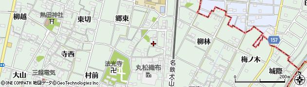 愛知県一宮市千秋町加納馬場(三本木)周辺の地図