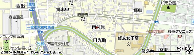 愛知県一宮市大和町馬引(南河原)周辺の地図