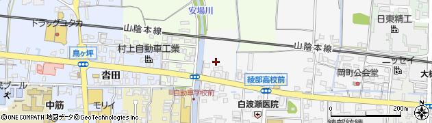 京都府綾部市岡町(弓場)周辺の地図