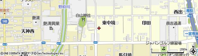 愛知県一宮市大和町馬引(東中境)周辺の地図