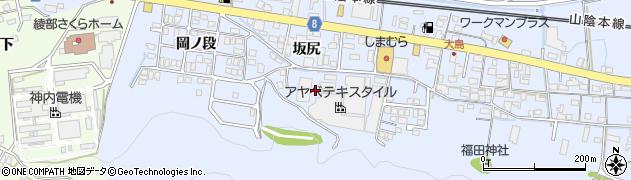京都府綾部市大島町(湯屋)周辺の地図