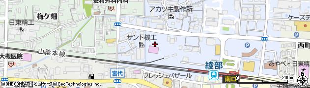 京都府綾部市井倉新町(上大橋)周辺の地図