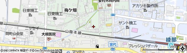 京都府綾部市井倉町(溝渕)周辺の地図