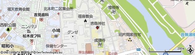 吉森神社周辺の地図