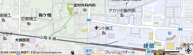 京都府綾部市井倉新町(南大橋)周辺の地図