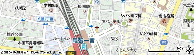 愛知県一宮市栄周辺の地図