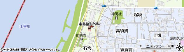 愛知県一宮市冨田(上町)周辺の地図