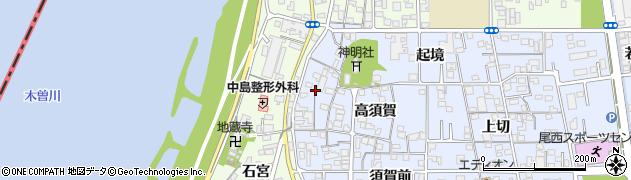 愛知県一宮市西五城(宮西)周辺の地図