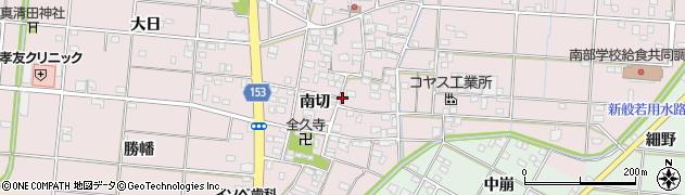 愛知県一宮市北小渕(南切)周辺の地図