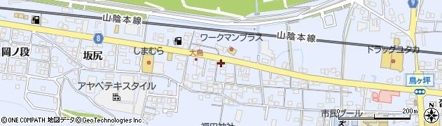 京都府綾部市大島町(大江)周辺の地図