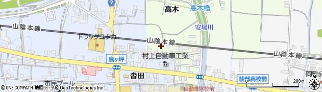 京都府綾部市延町(船田)周辺の地図
