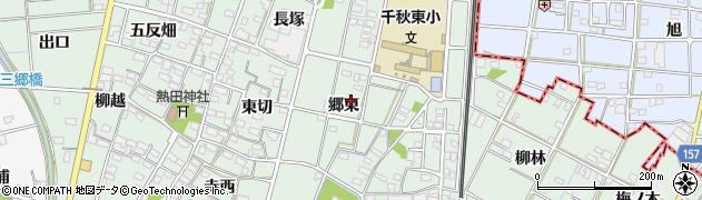 愛知県一宮市千秋町加納馬場(郷東)周辺の地図