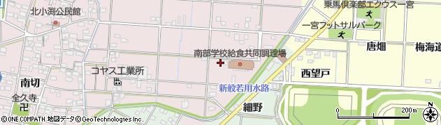 愛知県一宮市北小渕(寺山南)周辺の地図