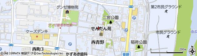 京都府綾部市青野町(宮ノ前)周辺の地図