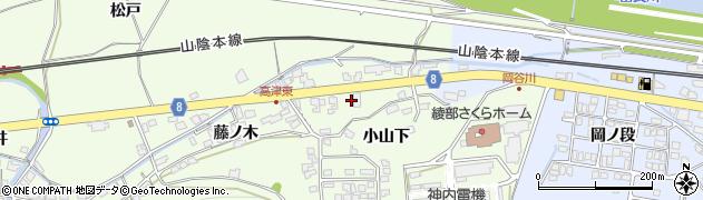 京都府綾部市高津町(楮ノ木)周辺の地図