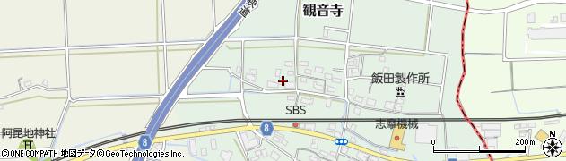 京都府福知山市観音寺周辺の地図