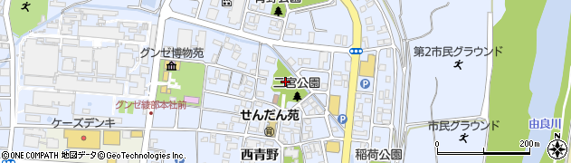 二宮神社周辺の地図