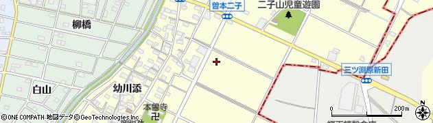 愛知県江南市曽本町周辺の地図