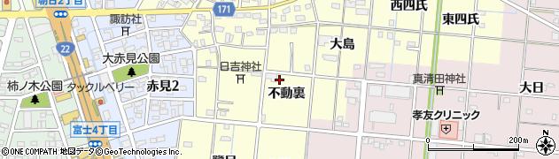 愛知県一宮市大赤見(不動裏)周辺の地図