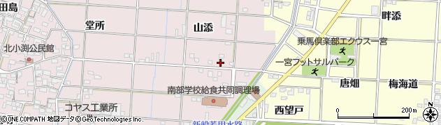 愛知県一宮市北小渕(山添)周辺の地図