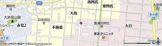 愛知県一宮市北小渕(道上)周辺の地図