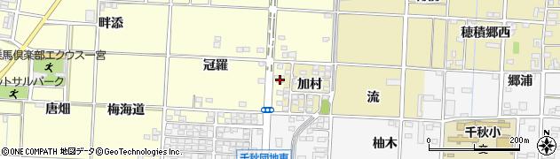 愛知県一宮市千秋町浮野(陽受)周辺の地図