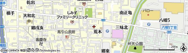 愛知県一宮市大和町馬引(荒木)周辺の地図
